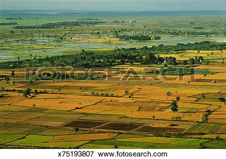 Picture of Myanmar (Burma), Mandalay, view across Mandalay Plain.