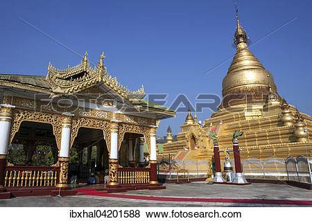 Pictures of Maha Lawka Marazein Pagoda, Mandalay, Division.
