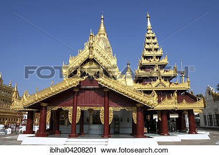 Stock Photography of Shwezigon Pagoda, Mandalay Division, Bagan.