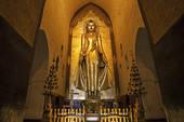 Stock Photograph of Mahamuni Buddha statue, Mahamuni Pagoda.