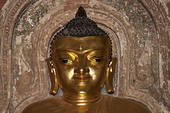 Pictures of Standing gilded Buddha, Buddha statue, Ananda Temple.