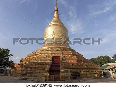Stock Photo of Lawkananda Pagoda in the evening light, Bagan.