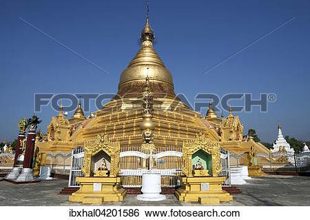 Stock Images of Maha Lawka Marazein Pagoda, Mandalay, Division.