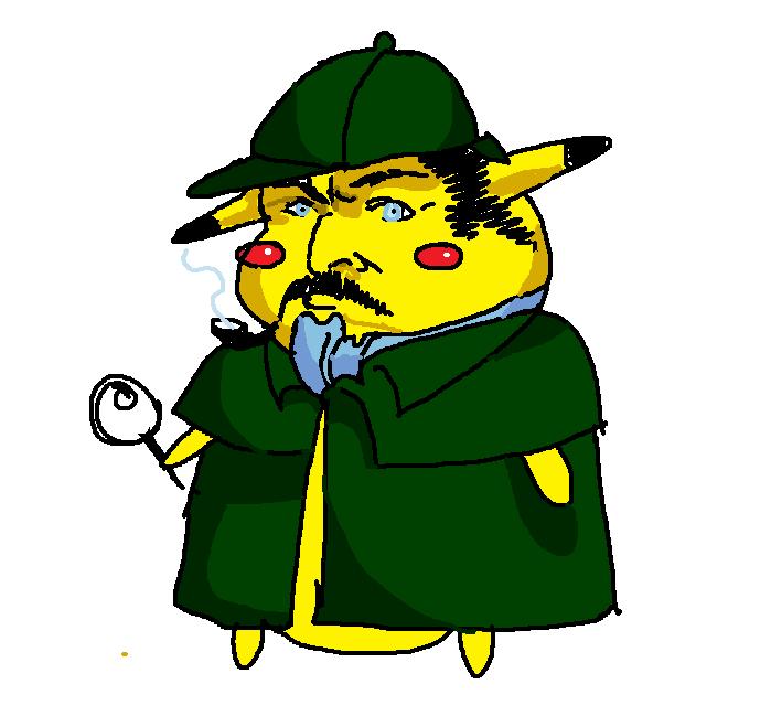 I drew Pikachu eating Ash.