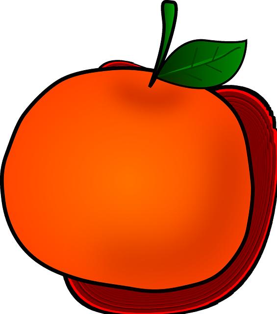 Food clipart mandarin.