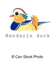 Mandarin duck Clip Art Vector and Illustration. 43 Mandarin duck.