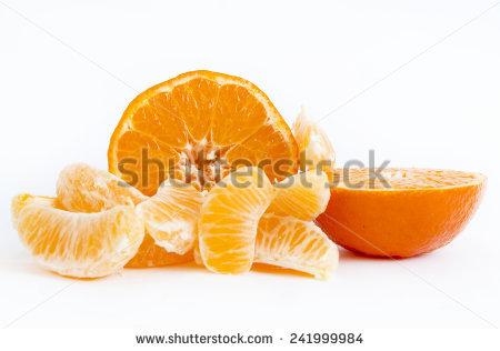 Fresh Citrus Fruit Segments Split Open Stock Photo 4214662.