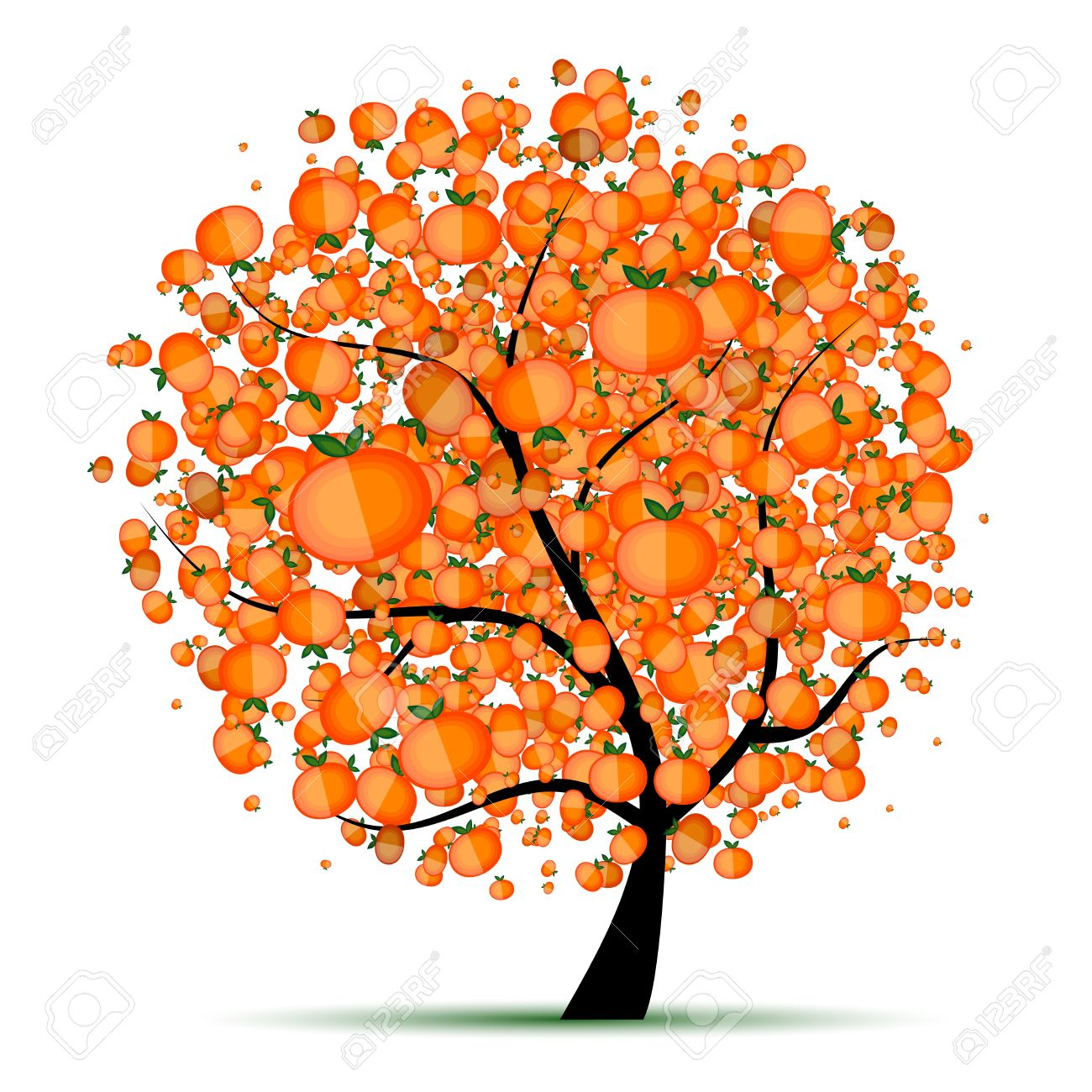 522 Mandarin Tree Stock Vector Illustration And Royalty Free.