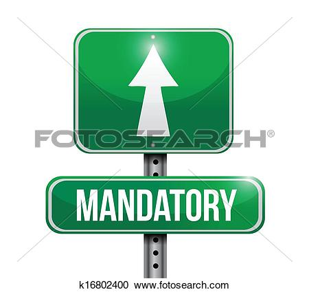 Clipart of mandatory road sign illustration design k16802400.