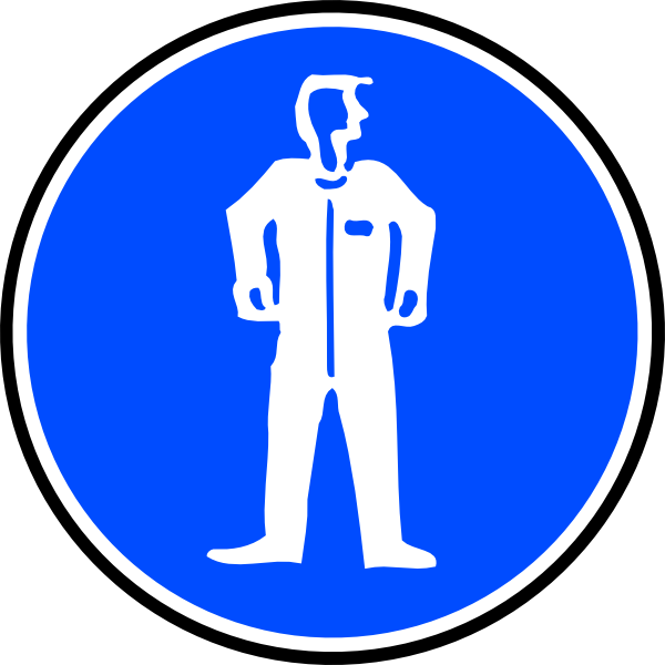 Mandatory Bodily Protection Blue Sign Sticker Clip Art at Clker.