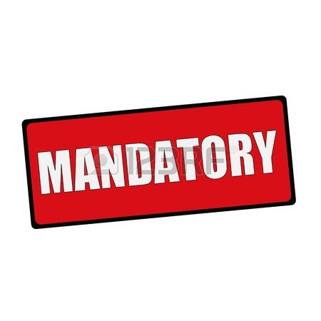 Mandatory Clipart.