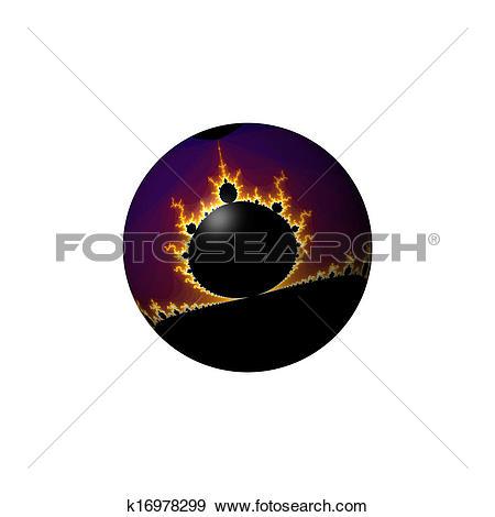 Stock Illustration of Fractal Mandelbrot Mandala Globe k16978299.
