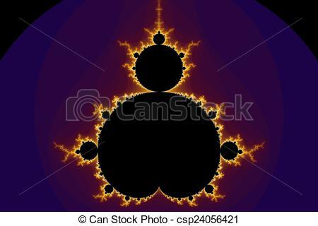 Clip Art of Fractal Mandelbrot.