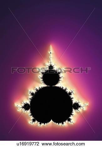 Clip Art of Mandelbrot fractal u16919772.