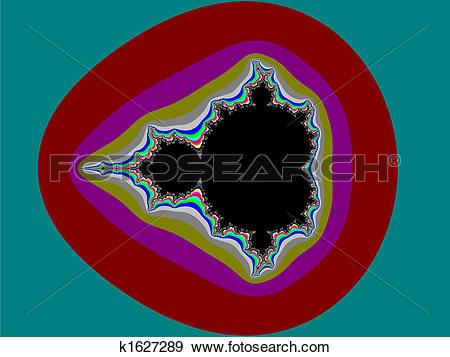 Stock Illustration of Fractal Mandelbrot set k1627289.