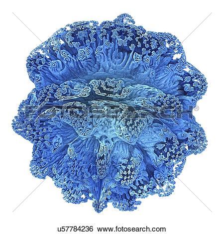 Stock Illustration of Mandelbulb fractal. Computer.