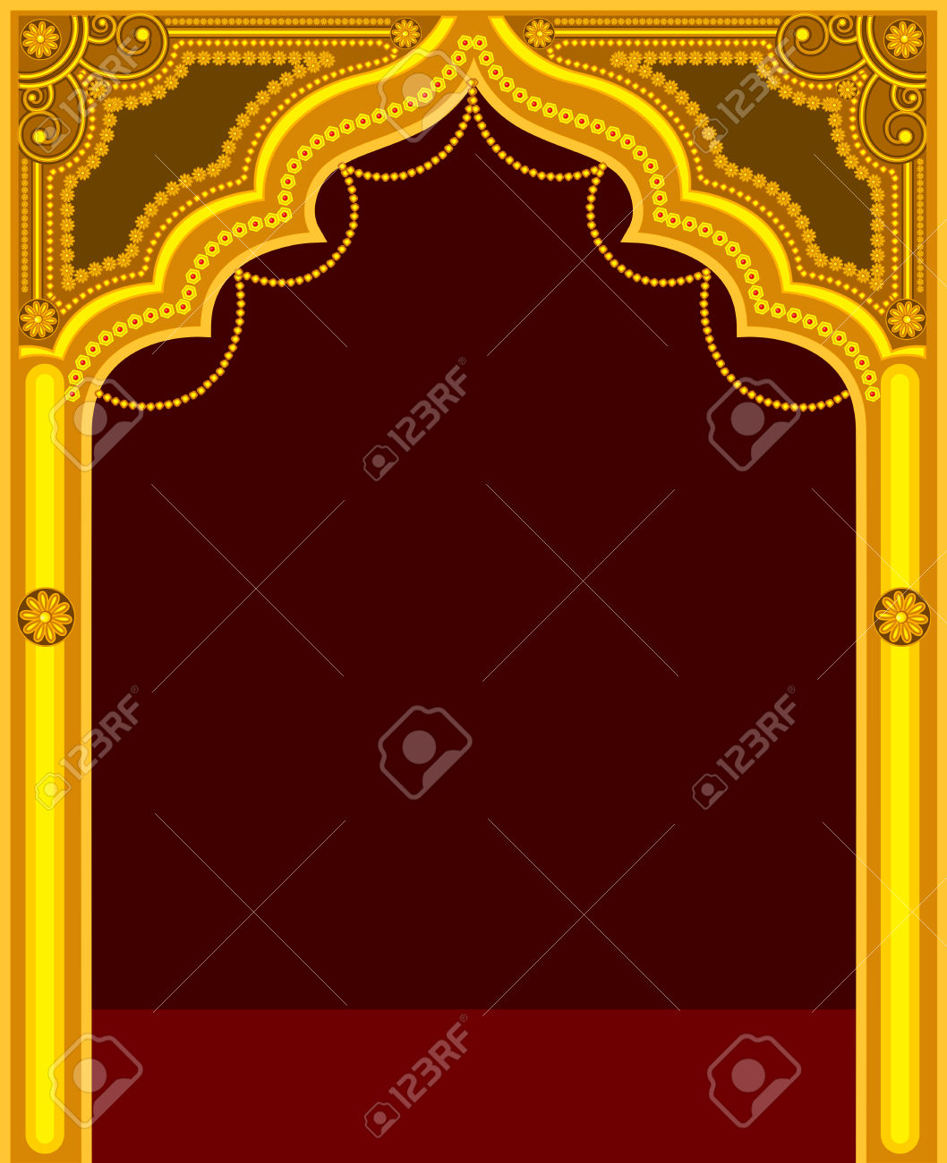 Mandir Gate Design Clipart.