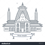 Indian Temple Clip Art.