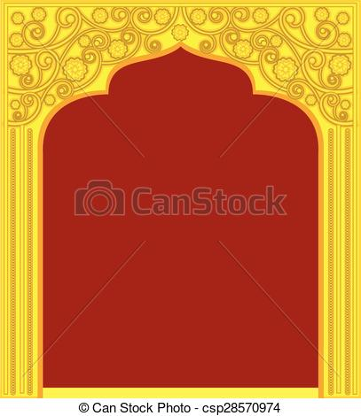 Mandir Gate Design Clipart.