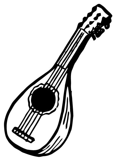 Mandolin Clipart.