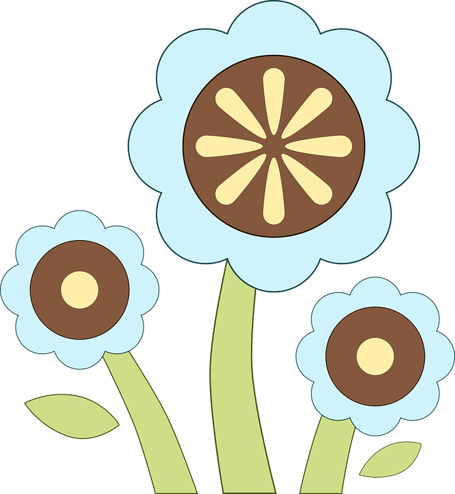 Free vector graphic: Flowers, Spring, Blue, Brown, Grass.