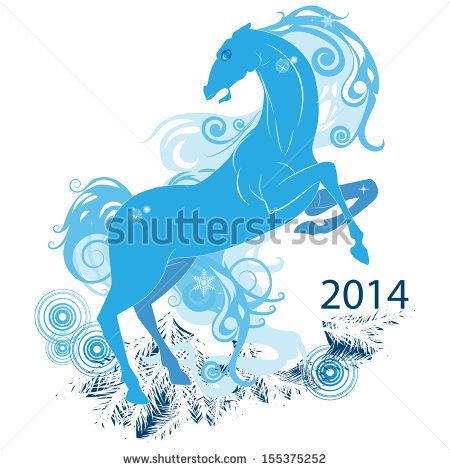 Vector Blue Horse Stock Vector 166954796.