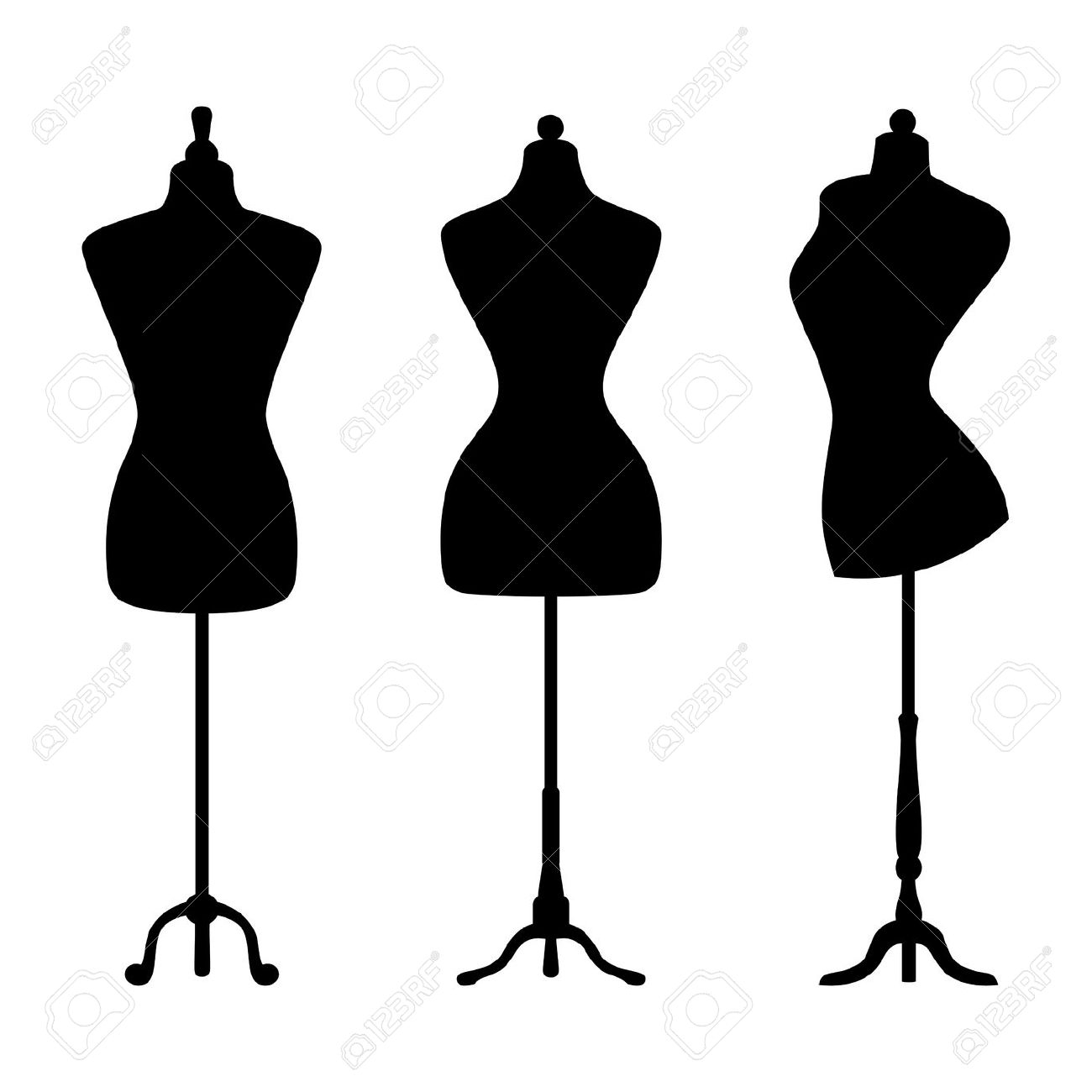Fashion Mannequin Clip Art.