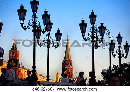 Picture of Manezhnaya Square, Kremlin. Moscow, Russia c46.