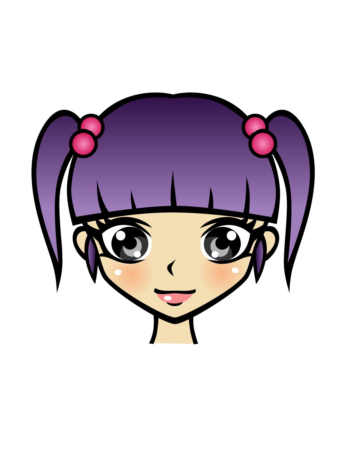 Manga character clipart.