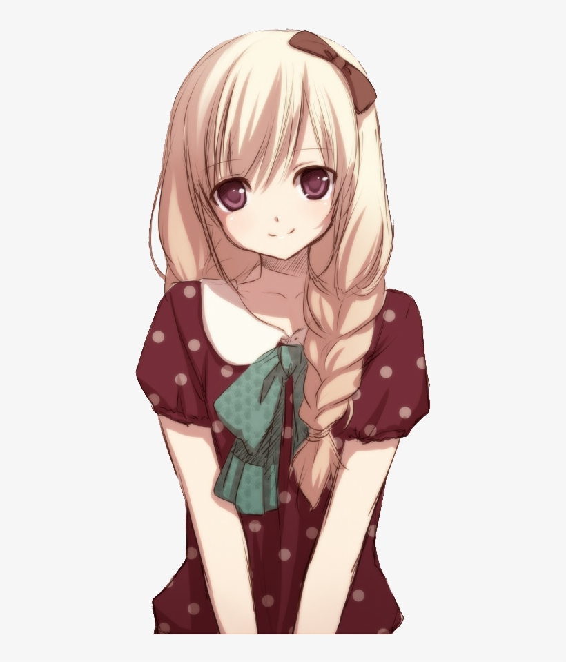 Anime Girl Png Transparent Image.