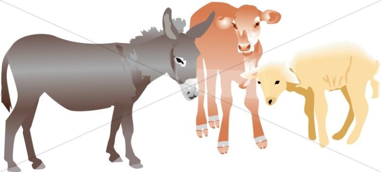 Nativity Stable Animals.