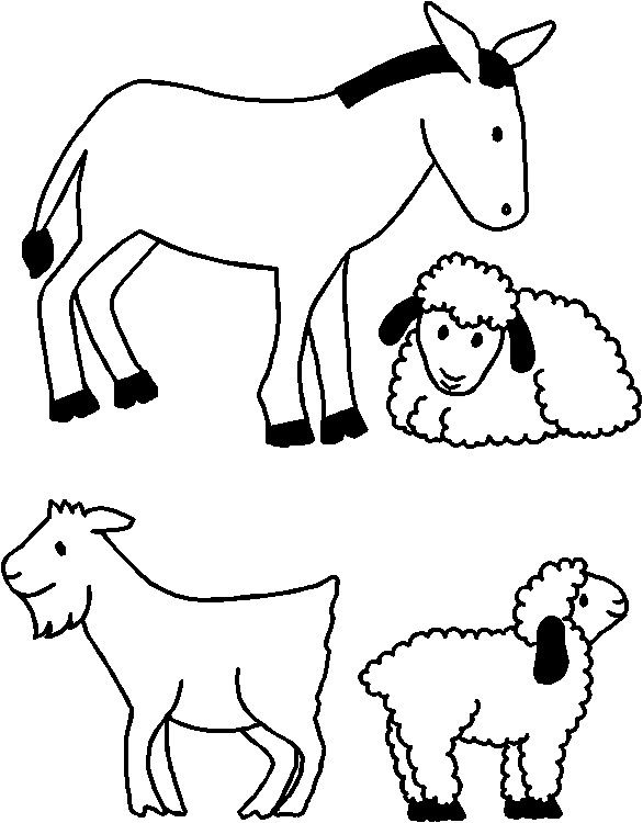 Nativity Animals for Paper Doll Friends.