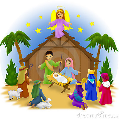 Animated manger clipart.