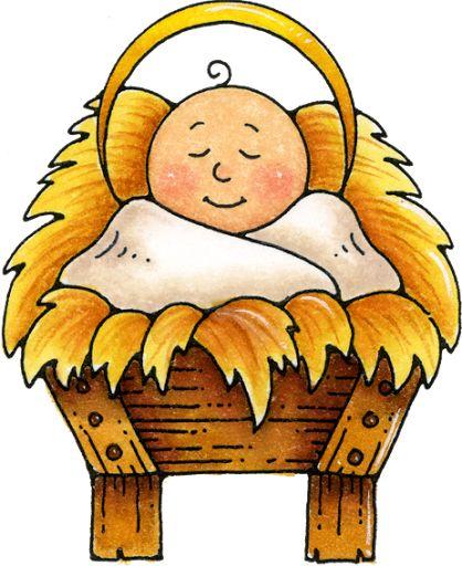 Baby jesus manger clipart.