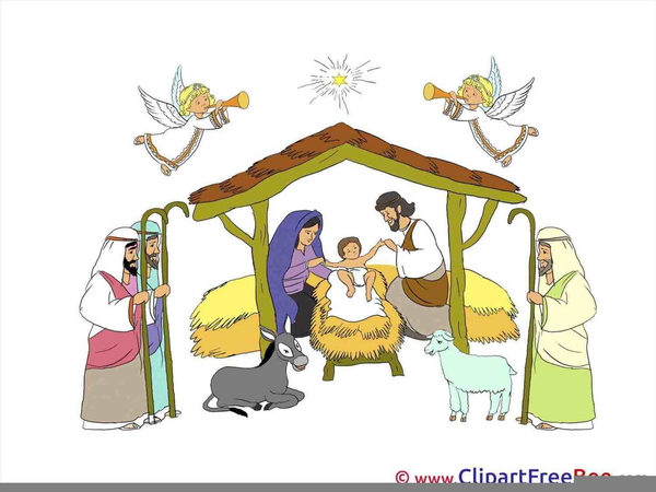 Christmas Manger Clipart Free Download Clip Art.