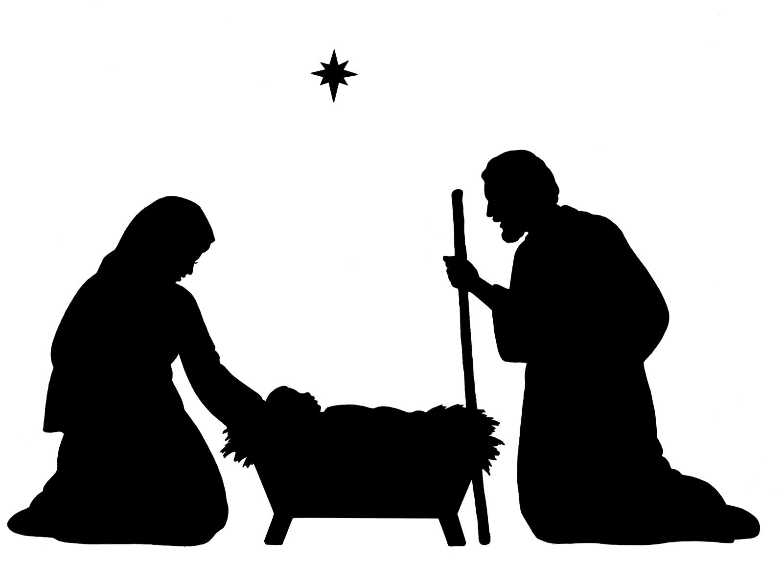 Silhouette Of The Nativity.