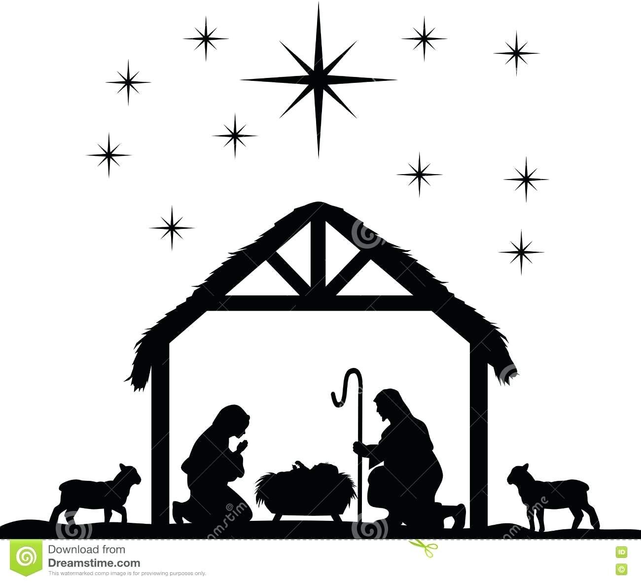Silhouette Nativity Scene at GetDrawings.com.