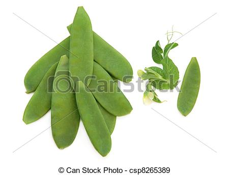 Stock Photographs of Mangetout Peas.