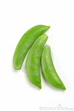 Sugar Snap Peas In A Row Stock Images.