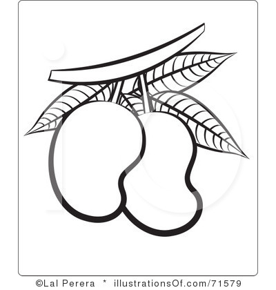 Mango Clipart Black And White.