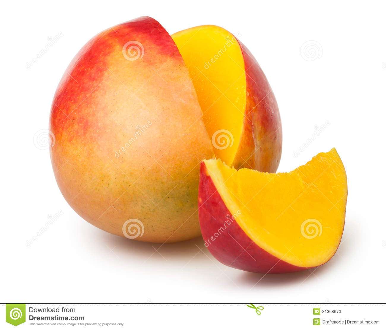 Mango Cut Stock Photos.