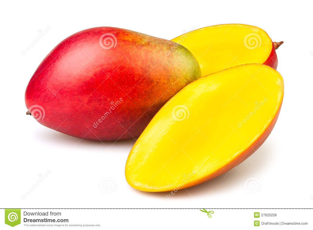 Mango Cut Royalty Free Stock Photos.