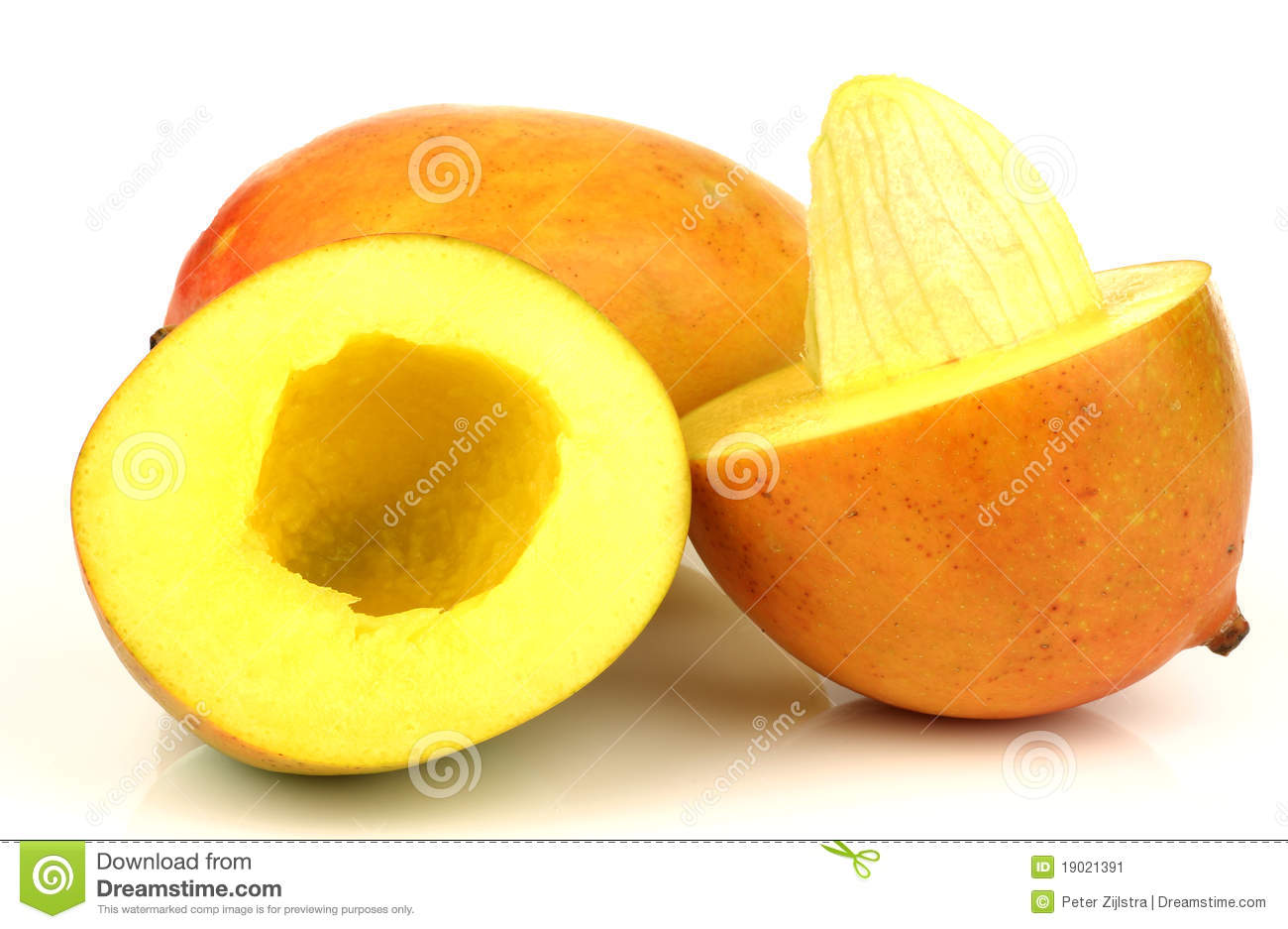 Mango Cut Open Stock Photos.