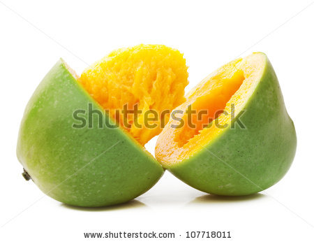 Glass Fresh Mango Juice Isolated On Stock Photo 126945716.