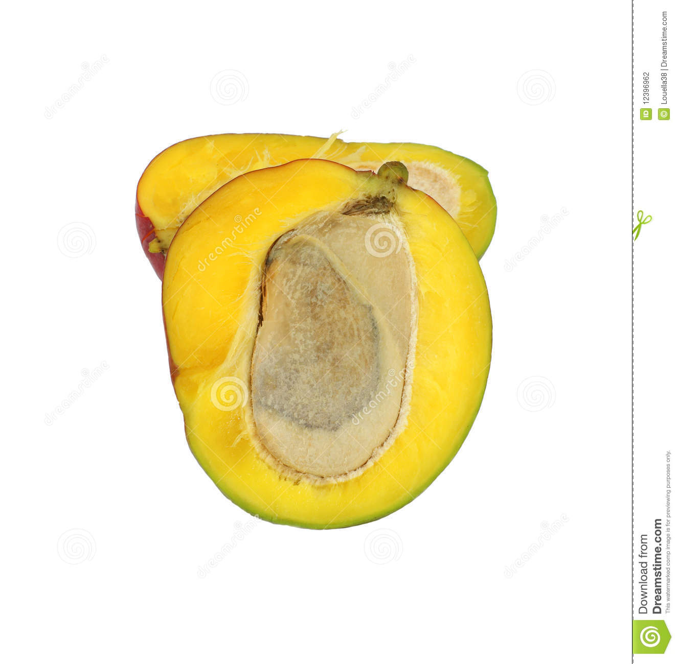 Cut Mango Stock Photography.