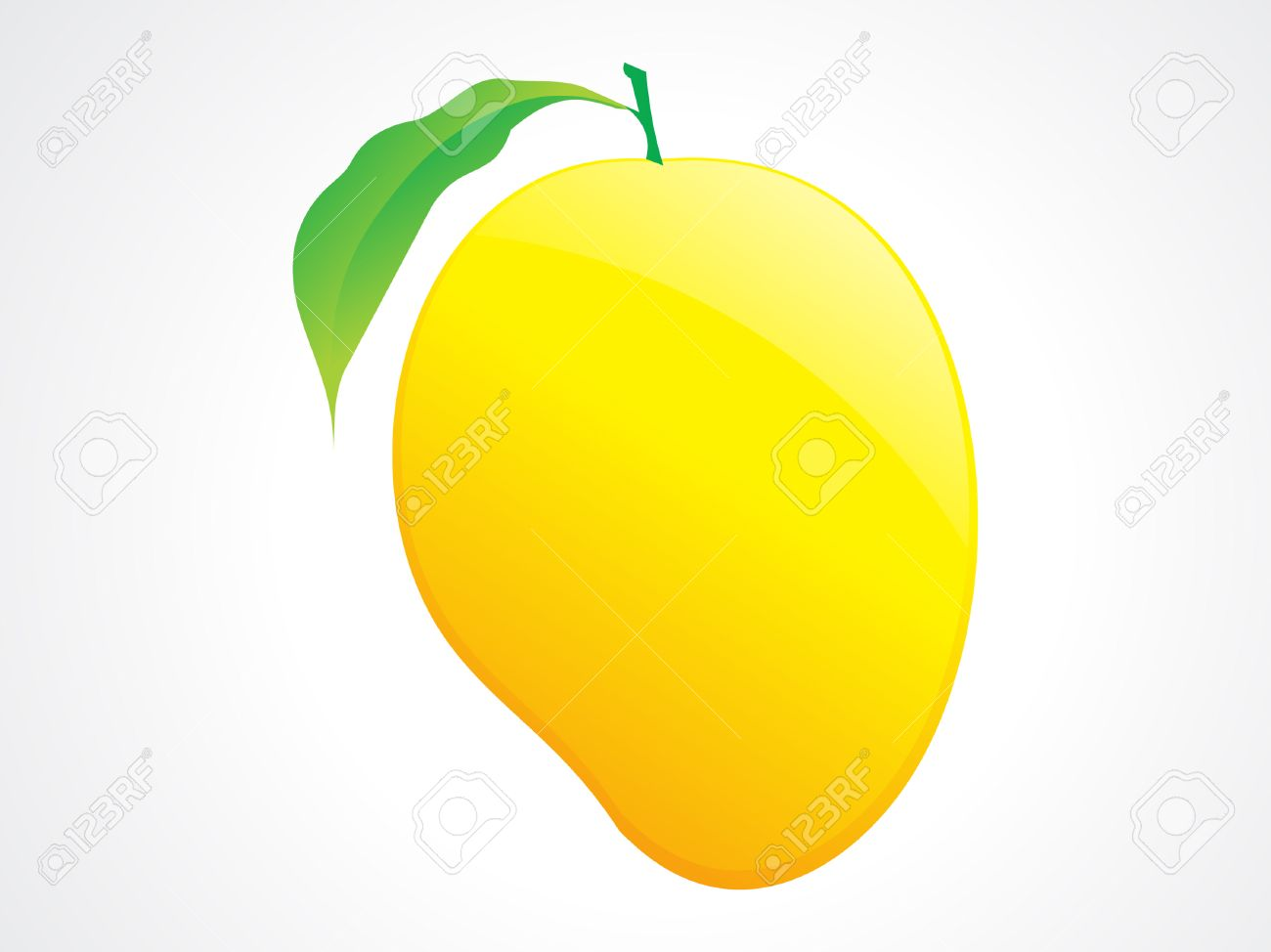 tasteful mango fruit and leaf illustration.