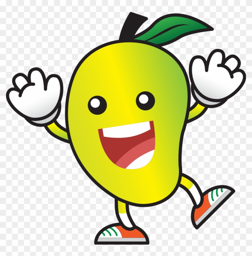 Child Eating Fruits Clipart.