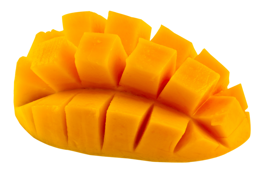 Sliced Mango Pieces PNG Vector PNG (1).