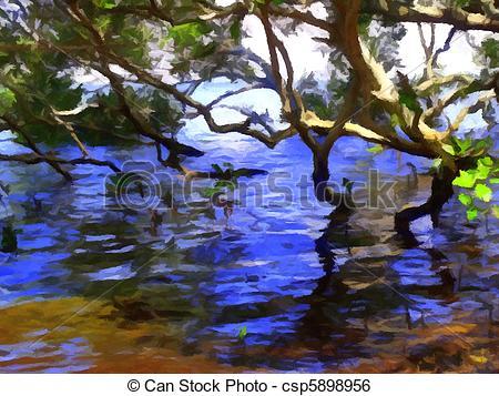 Stock Illustration of Mangroves 2.
