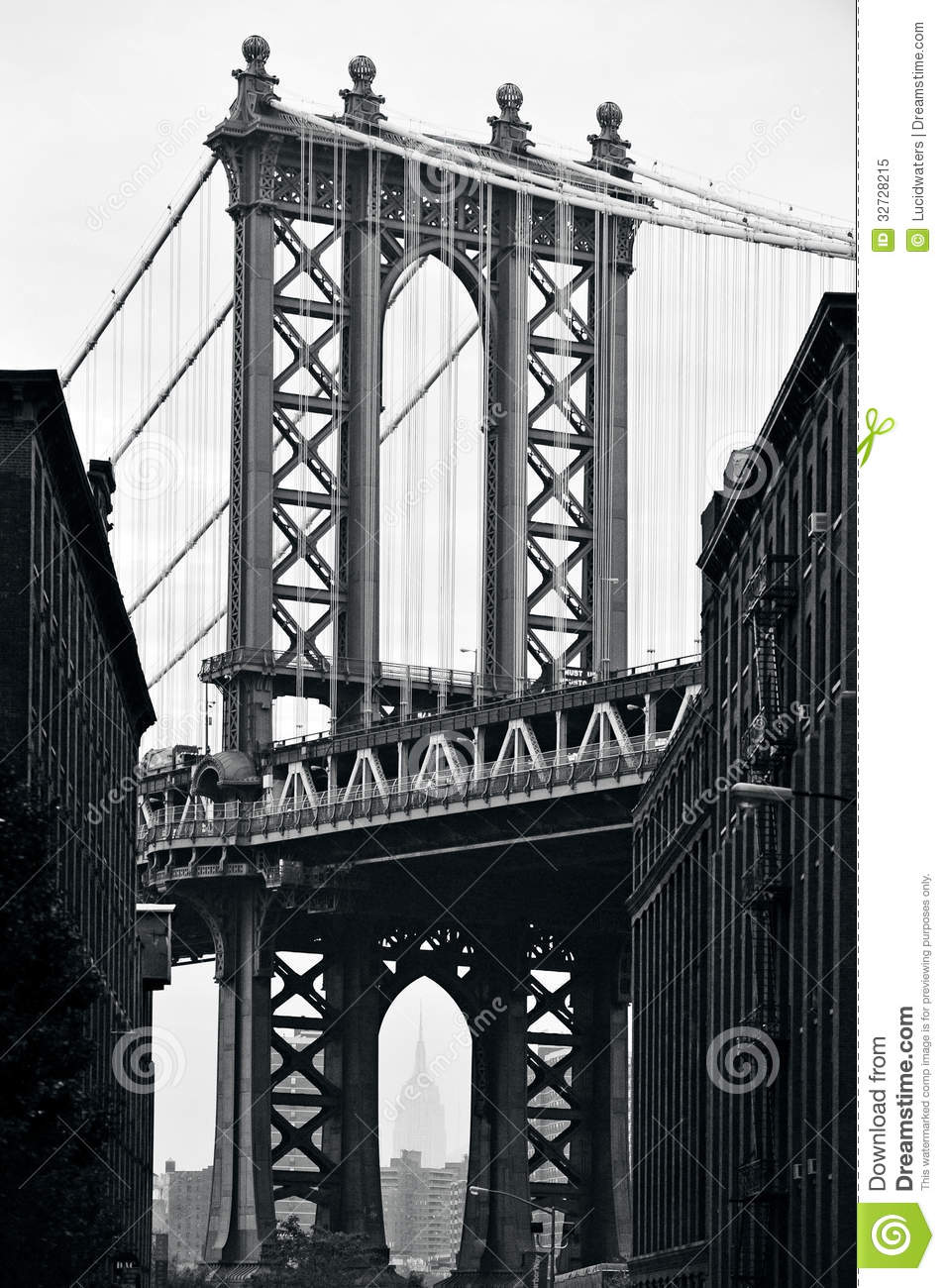 New york manhattan bridge clipart.